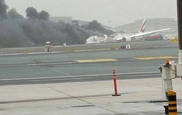 The 282 passengers and 18 crew members on board the Emirates Boeing 777 are all safe; one firefighter is believed to be dead.