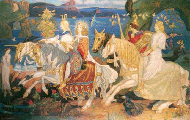 The Tuatha Dé Danann of which Lugh was a member.
