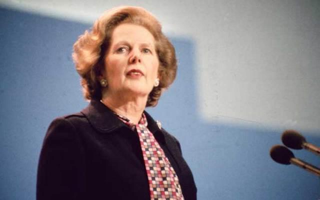 UK Prime Minister Margaret Thatcher in October 1984.