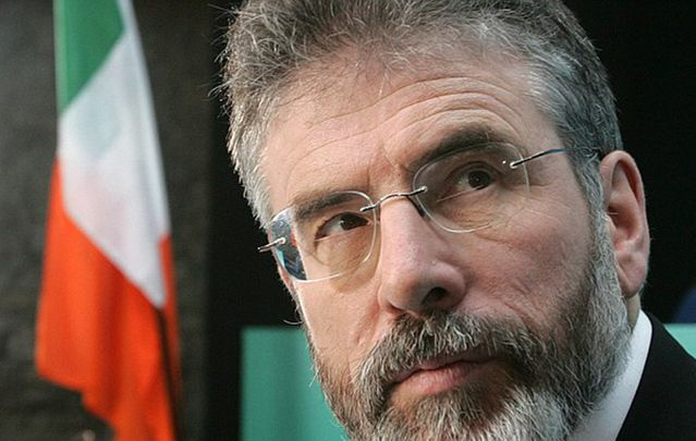 Sinn Féin President Gerry Adams speaks directly to dissidents about upped threat to community.