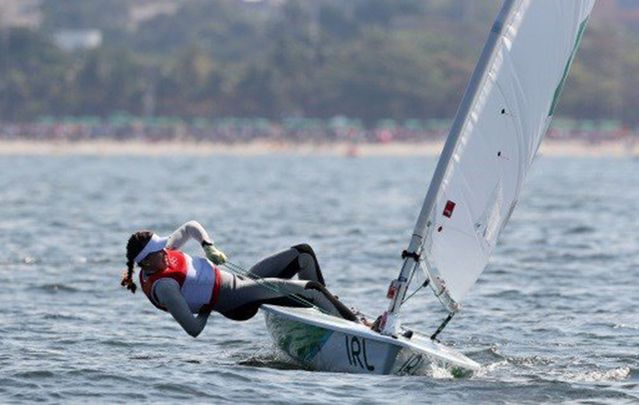 Dublin sailor Annalise Murphy took silver in the Women's Laser Radial (Dinghy) sailing competition.