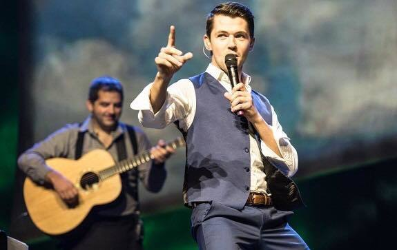 """Young singing star Damian McGinty returns to Celtic Thunder in their """"Best of"""" tour."""