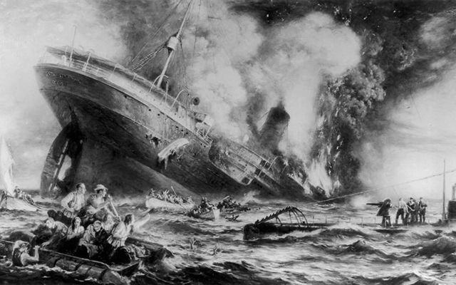 The sinking of the Lusitania: Plunging into the icy water and being taken for dead the incredible tale of May Barrett Keegan.
