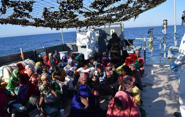 LE James Joyce Search and Rescue Operation, on 21st July 2016. Following a request from the Italian Maritime Rescue Co-ordination Centre, the LE James Joyce located and rescued a total of 453 migrants