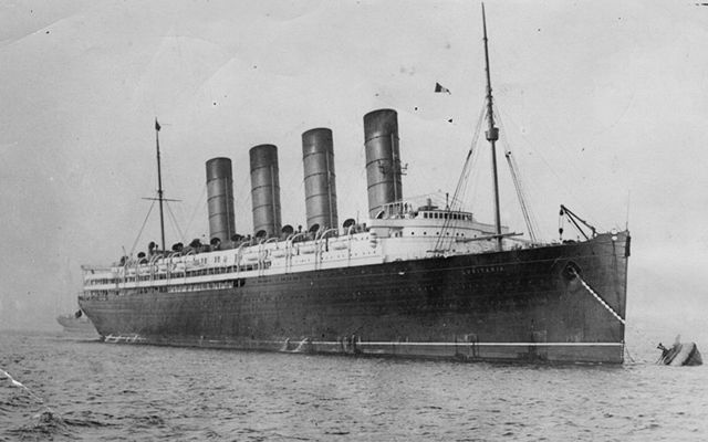 Passenger ship, the RMS Lusitania, was hit by German U-boat en route to New York.