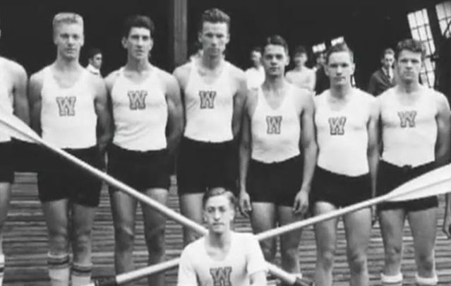 The University of Washington rowing team from the 1936 Olympics.
