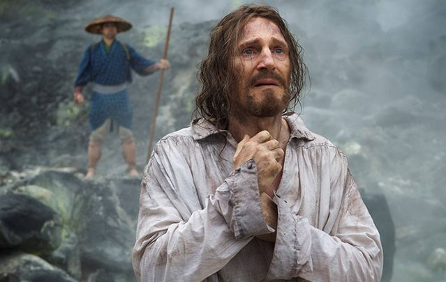 Neeson plays mentor Fr. Cristóvão Ferreira in this heavily religious film based on the violent persecution faced by two Portuguese Jesuit priests in 17th century Japan.