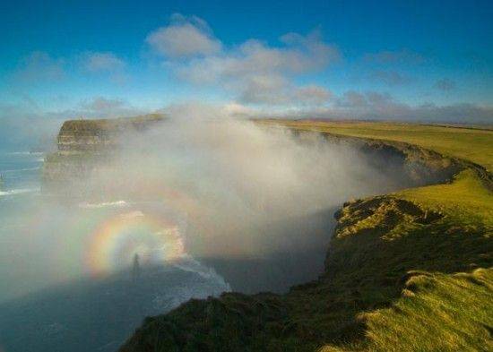 "A ""Brocken Spectre\"" captured at the Cliffs of Moher, in County Clare."