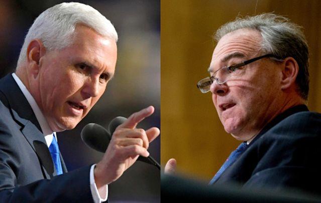 Governor Mike Pence and Senator Tim Kaine.