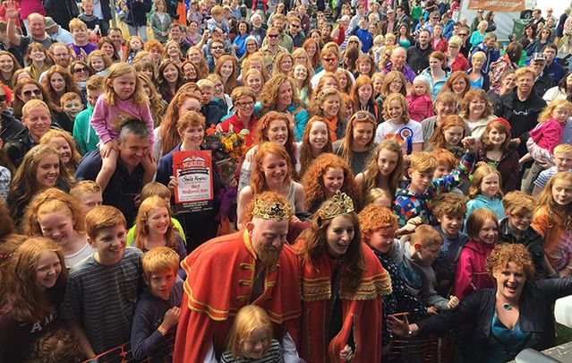 The King and Queen of this year's Redhead Convention, in Cork: The quirky gathering of 2,500 redheads brings confidence and pride to red-headed youth.