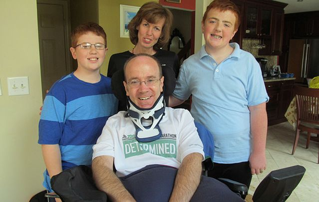 Billy Keenan (center) along with his sons, Patrick and Kieran, and his former wife, Noreen Martin Keenan.