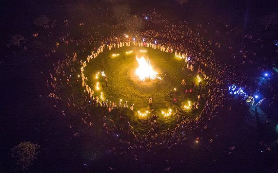 Celebration of the Uisneach Fire Festival, at the Hill of Uisneach, in County Westmeath.