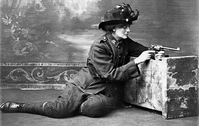 "Countess Markievicz: ""Dress suitably in short skirts and strong boots, leave your jewels and gold wands in the bank, and buy a revolver.\"""