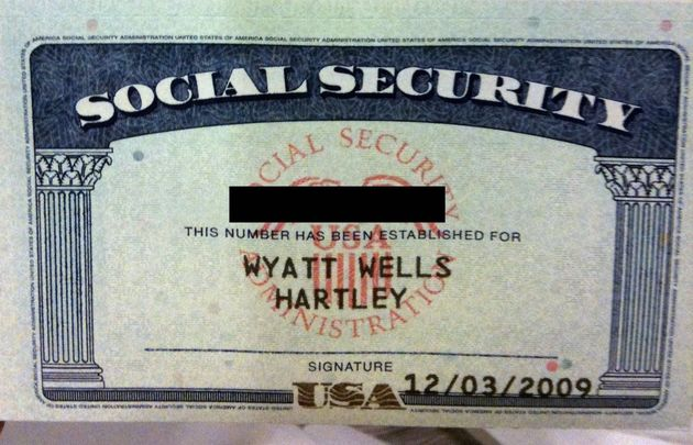 A United States social security card.