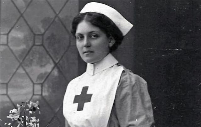 Violet Jessop in her Voluntary Aid Detachment uniform while assigned to HMHS Britannic.