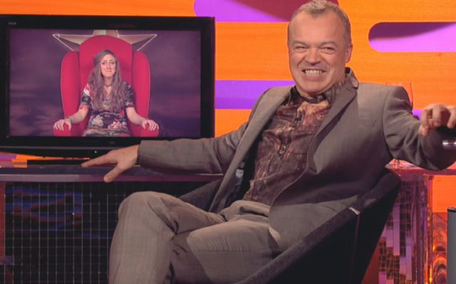 """Derry native Aileen Faller had Irish television host Graham Norton """"in stitches"""" with laughter while she recounted her tale of a mistaken car on the late night talk show."""
