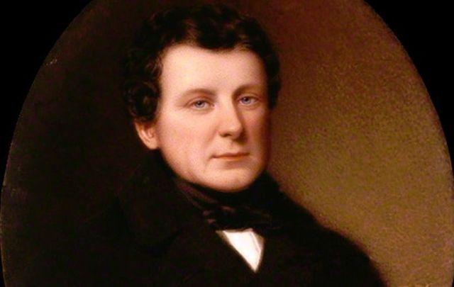An 1836 watercolor portrait of Daniel O\'Connell by Bernard Mulrenin.