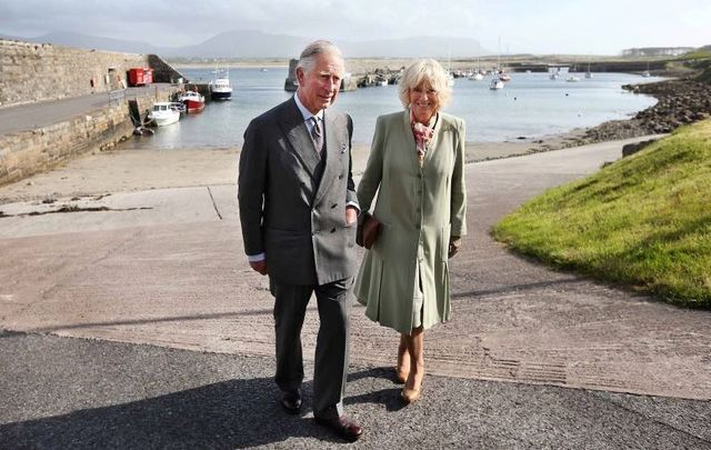 H.R.H.The Prince of Wales and H.R.H. The Duchess of Cornwall at Mullaghmore pier on May 20, 2015.