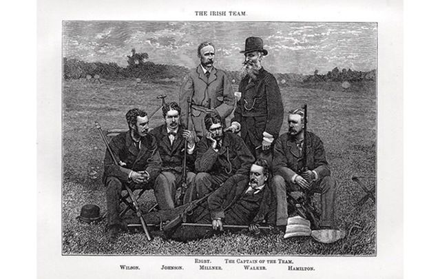 The Irish team that competed with the fledgling NRA team in its first International Rifle Match at Creedmoor in 1874