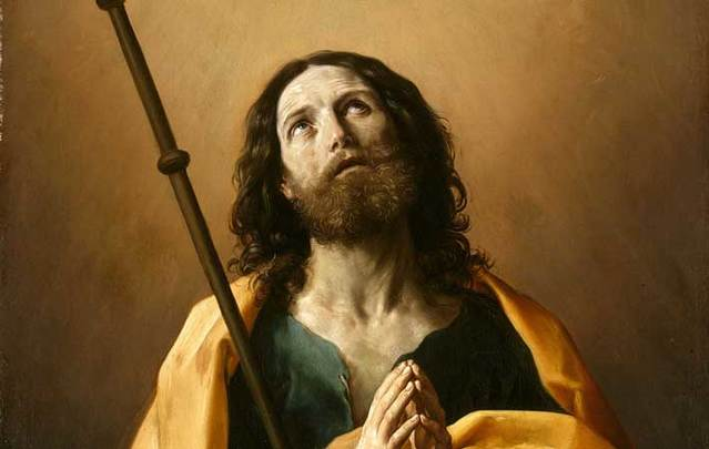Saint James the Greater, painting by Guido Reni (created 1636-1638).