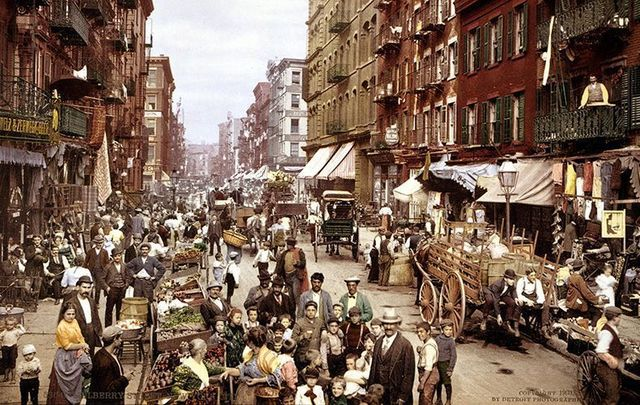 Mulberry Street, in New York City, c 1900.