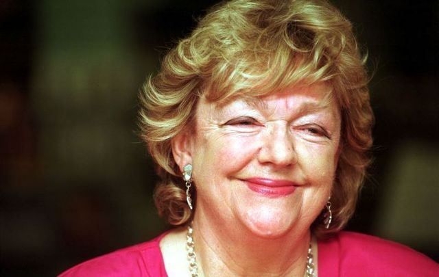 Irish author Maeve Binchy, pictured here in 1998.