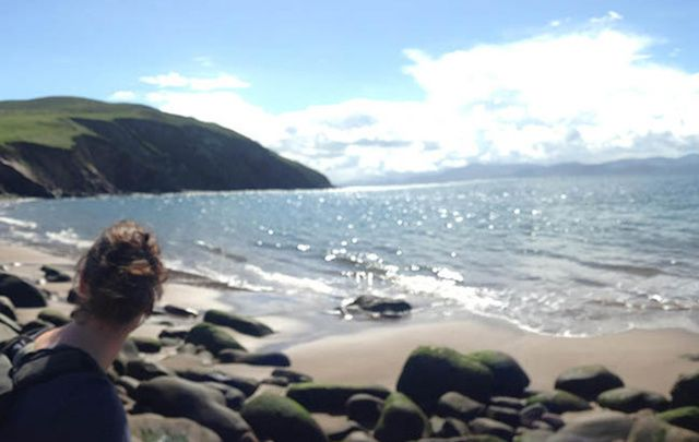 Storm beach, at Minard Castle: Following in the steps of St. Brendan and celebrating Irish summer days with Camino Ways.