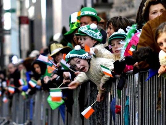 US States with largest numbers of Irish identified in new census data.