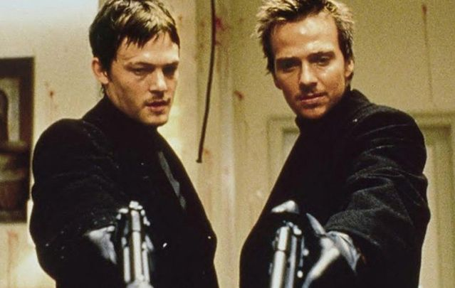 "Norman Reedus and Sean Patrick Flannery in ""The Boondock Saints."""