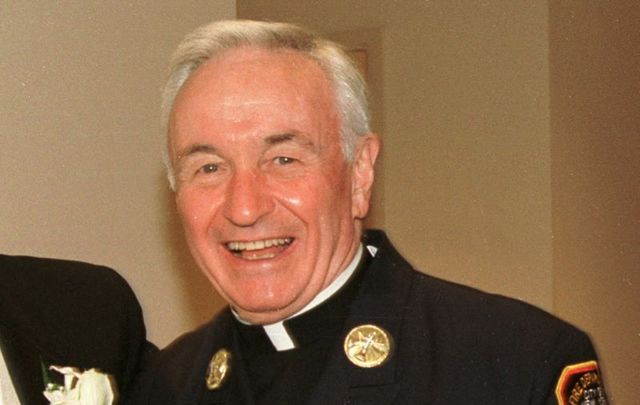 Father Mychal Judge, pictured here on July 28, 2001.