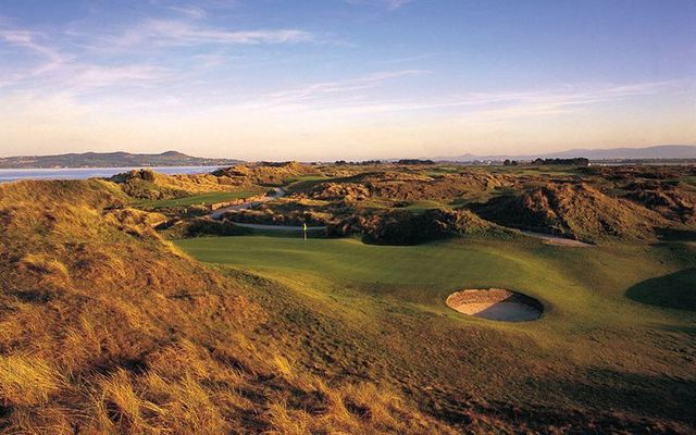 The stunning views of Portnarnock golf course, County Dublin, just a 40 minutes journey from Dublin city.