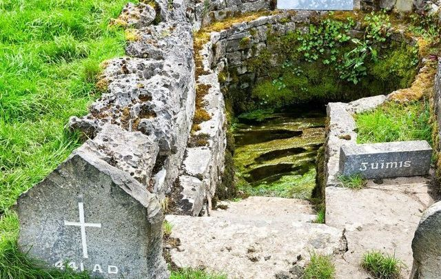 The Well of Saint Patrick at Ballintubber Abbey in Ballintubber, County Mayo