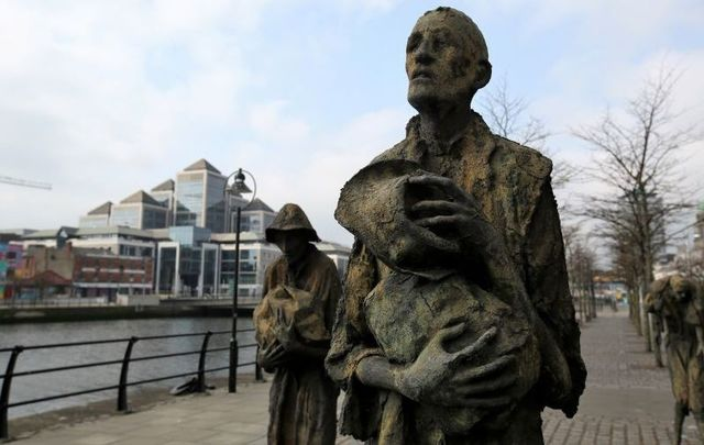 Famine statues along the River Liffey in Dublin.