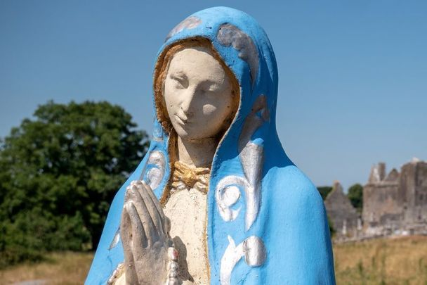 A statue of the Virgin Mary at Quin Abbey in Co Clare.