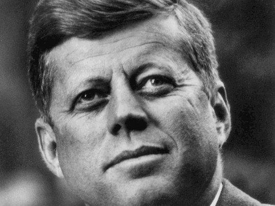 President John Fitzgerald Kennedy.