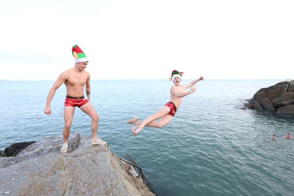 The annual Christmas Day Swim at Forty Foot Rock in Dublin is one of the best (and chilliest) Irish Christmas traditions.