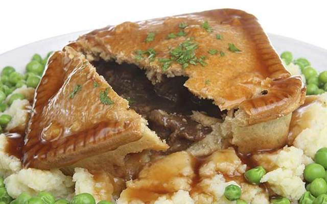 Jamie Oliver\'s beef and onion pie.