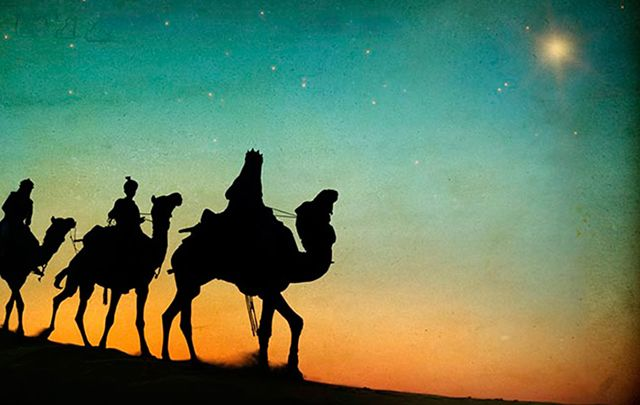 """I looked and three whin bushes rode across, The horizon — the Three Wise Kings."""