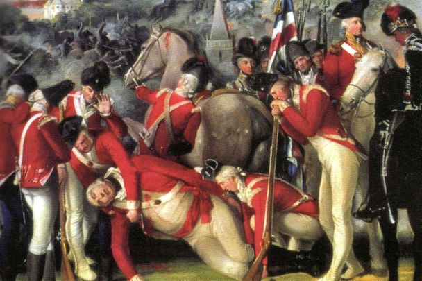 Section of painting of Battle of Ballynahinch (1798) by Thomas Robinson.