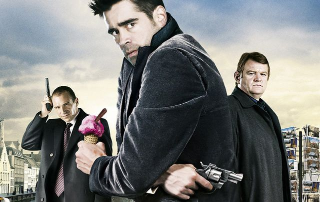 In Bruges staring Colin Farrell, Ralph Fiennes and Brendan Gleeson.