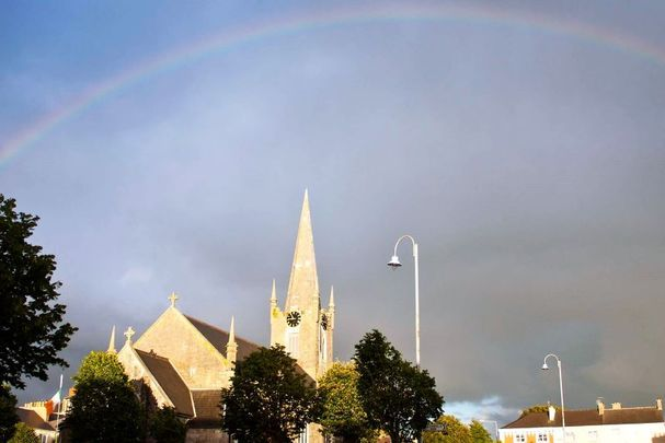 A rainbow over Listowel in Co Kerry.