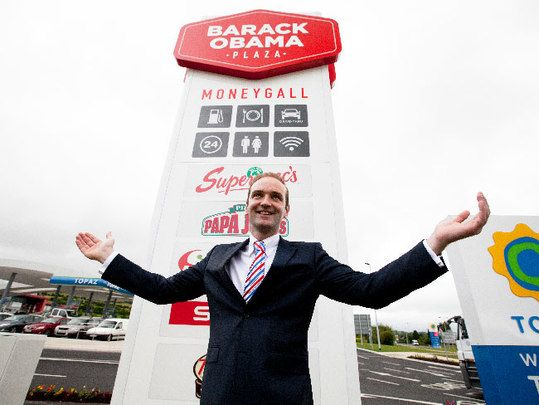 Moneygall, Co. Offaly suffers the sad fate of rural Ireland while the new Obama Plaza attracts huge numbers of tourists.