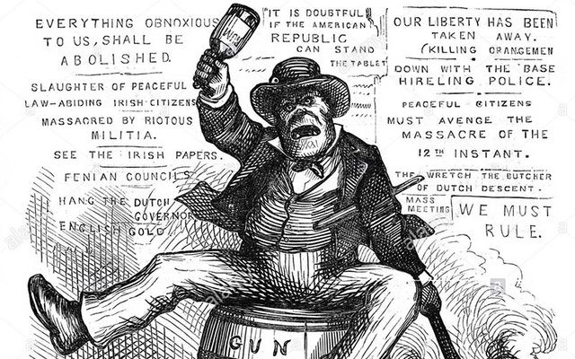 Thomas Nash's racist cartoon, from 1871: While many Irish stereotypes and slurs have fallen out of use, others are still surprisingly common.