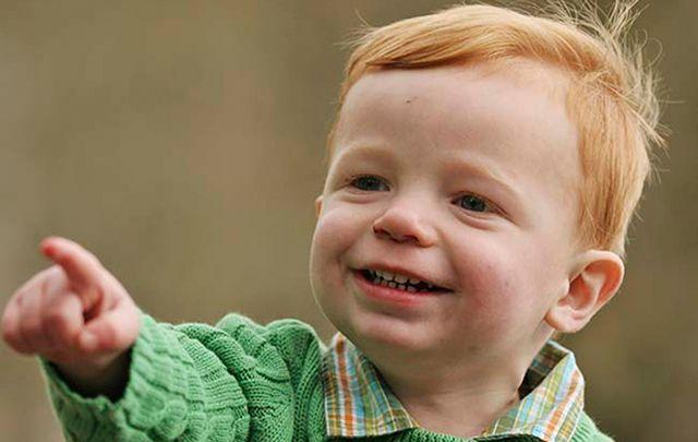 Irish baby boy.