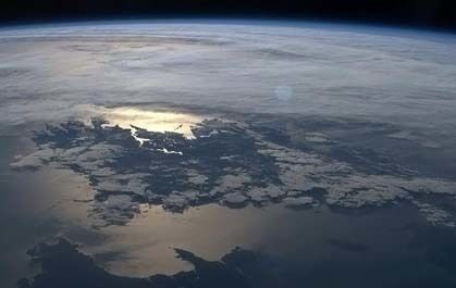 Photo of Ireland taken from space by Canadian Chris Hadfield