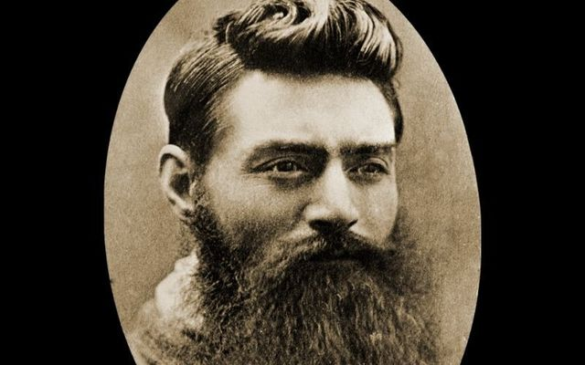 Ned Kelly on November 10, 1890, the day before his execution in Australia.