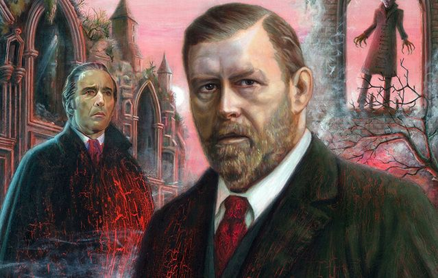 "A portrait of ""Dracula\'s\"" author, Bram Stoker, from Marino, Dublin, by local artist Aidan Hickey"