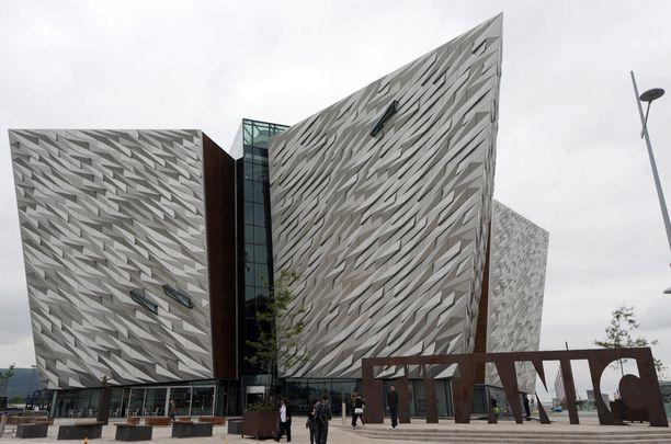 The Titanic visitors center at the center of Belfast\'s Titanic Quarter