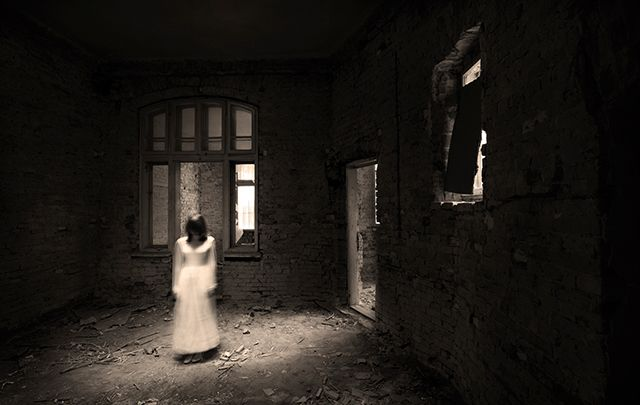 The ghost of a girl in an abandoned house.
