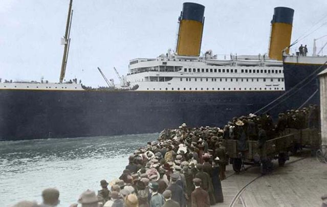 Anton Logvynenko, a Russian photo editor, added color to original black and white photos of the Titanic.